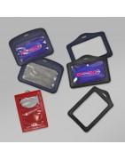 Leather-like badge holders